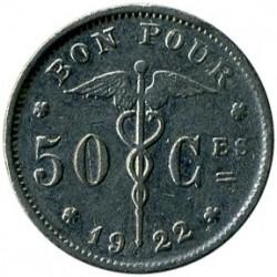 Münze > 50Centime, 1922-1933 - Belgien  (Legend in French - 'BELGIQUE') - reverse