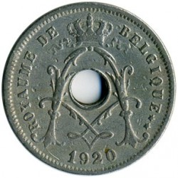 Mynt > 5 centimes, 1910-1932 - Belgia  (Legend in French - 'ROYAUME DE BELGIQUE') - reverse