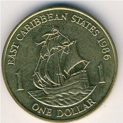 Νόμισμα > 1Δολάριο, 1981-1986 - Ανατολική Καραϊβική  - reverse