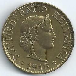 Moeda > 10rappen, 1918-1919 - Suíça  - obverse