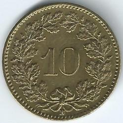 Moeda > 10rappen, 1918-1919 - Suíça  - reverse