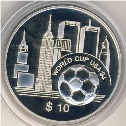 Νόμισμα > 10Δολάρια, 1994 - Ανατολική Καραϊβική  (FIFA World Cup 1994) - reverse