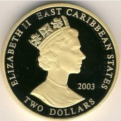 錢幣 > 2元, 2003 - 東加勒比國家組織  (British Military Leaders - Major-General Charles George Gordon) - obverse