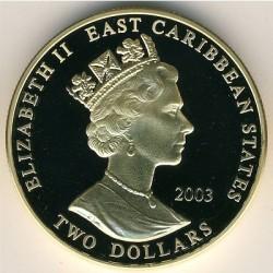 Moneta > 2dollari, 2003 - Caraibi Orientali  (Capi militari britannici - Riccardo I d'Inghilterra) - obverse