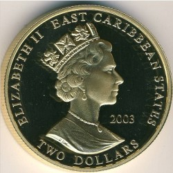 Moneta > 2dollari, 2003 - Caraibi Orientali  (Capi militari britannici - Edoardo III d'Inghilterra) - obverse