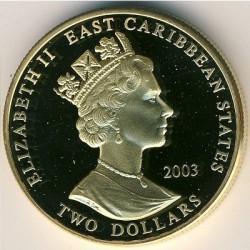 Νόμισμα > 2Δολάρια, 2003 - Ανατολική Καραϊβική  (British Military Leaders - Winston Churchill) - obverse