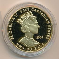 Νόμισμα > 2Δολάρια, 2003 - Ανατολική Καραϊβική  (British Military Leaders - Francis Drake) - obverse
