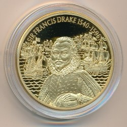 Νόμισμα > 2Δολάρια, 2003 - Ανατολική Καραϊβική  (British Military Leaders - Francis Drake) - reverse