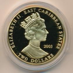 Moneta > 2dollari, 2003 - Caraibi Orientali  (Capi militari britannici - Douglas Haig) - obverse