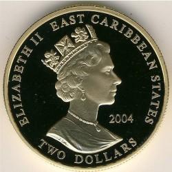 Moneta > 2dollari, 2004 - Caraibi Orientali  (Capi militari britannici - Lawrence d'Arabia) - obverse