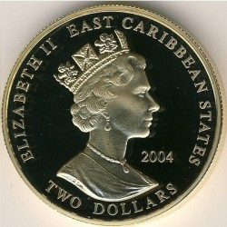 Moneta > 2dollari, 2004 - Caraibi Orientali  (Capi militari britannici - John Churchill, I duca di Marlborough) - obverse
