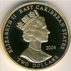 Moneta > 2dollari, 2004 - Caraibi Orientali  (Capi militari britannici - James Brudenell, VII conte di Cardigan) - obverse