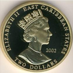 Moneta > 2dollari, 2002 - Caraibi Orientali  (Capi militari britannici - Arthur Wellesley, I duca di Wellington) - obverse