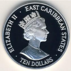 Νόμισμα > 10Δολάρια, 1993 - Ανατολική Καραϊβική  (40th Anniversary - Coronation of Queen Elizabeth II) - obverse