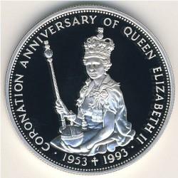 Νόμισμα > 10Δολάρια, 1993 - Ανατολική Καραϊβική  (40th Anniversary - Coronation of Queen Elizabeth II) - reverse