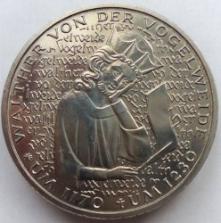 Moneda > 5marcos, 1980 - Alemania  (750º Aniversario - Muerte de Walther von der Vogelweide) - reverse