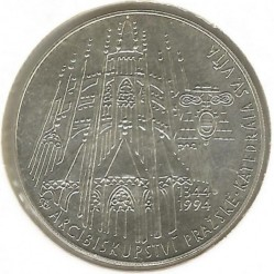 Moneda > 200coronas, 1994 - República Checa  (650th Anniversary - St. Vitus Cathedral) - obverse