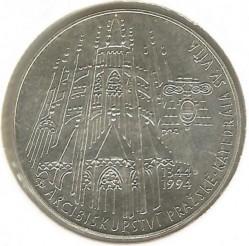 Moneda > 200coronas, 1994 - República Checa  (650th Anniversary - St. Vitus Cathedral) - reverse