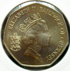Moeda > 50pence, 1990 - Guernsey  - obverse