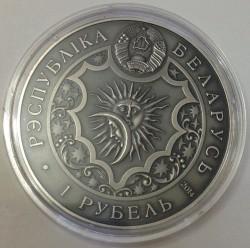 Moneda > 1rublo, 2014 - Bielorrusia  (Signos del Zodiaco: Aries) - obverse