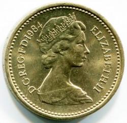 العملة > 1جنيه , 1984 - المملكة المتحدة  - obverse