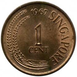 Moneta > 1centesimo, 1967-1976 - Singapore  - obverse
