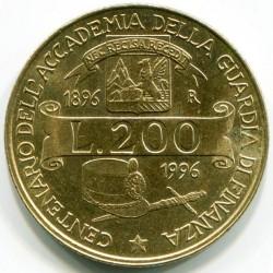 سکه > 200لیره, 1996 - ایتالیا  (100th Anniversary - Customs Service Academy) - reverse
