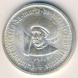 Mynt > 10 escudos, 1960 - Portugal  (500th Anniversary - Death of Prince Henry) - obverse