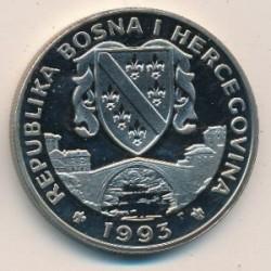 Pièce > 500dinara, 1993 - Bosnie-Herzégovine  (Préserver la planète Terre - Brontosaure) - obverse