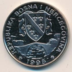 מטבע > 500דינר, 1995 - בוסניה והרצגובינה  (Preserve Planet Earth - Hedgehogs) - obverse