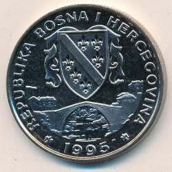 Moneta > 500dinara, 1995 - Bosnia ed Erzegovina  (Preserve Planet Earth - Przewalski's horse) - obverse