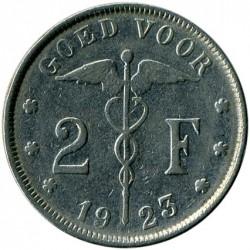 Münze > 2Franken, 1923-1930 - Belgien  (Legende in niederländisch - 'BELGIË') - reverse