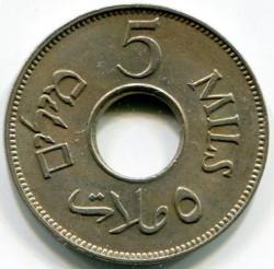 Pièce > 5mils, 1927-1946 - Palestine  - reverse
