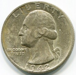Moneda > ¼dólar, 1932-1964 - Estados Unidos  (Washington Quarter) - obverse