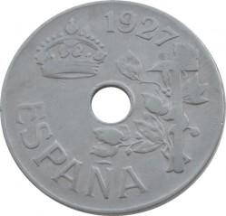 Moeda > 25cêntimos, 1927 - Espanha  - obverse