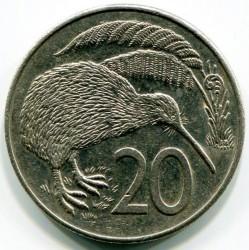 Moneta > 20centów, 1986-1989 - Nowa Zelandia  - reverse