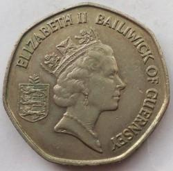 Moeda > 20pence, 1985-1997 - Guernsey  - obverse