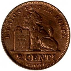 Münze > 2Centimes, 1911-1919 - Belgien  (Legend in French - 'ALBERT ROI DES BELGES') - reverse