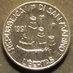 Монета > 50лір, 1991 - Сан-Марино  - obverse