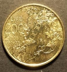 العملة > 200ليرة, 2001 - سان مارينو  - reverse
