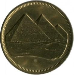 Монета > 5піастрів, 1984 - Єгипет  (Велика цифра номіналу (٥) вгорі монети) - obverse