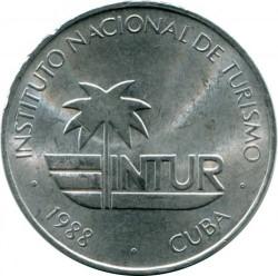 Moneta > 25centavos, 1988 - Kuba  (INTUR) - obverse