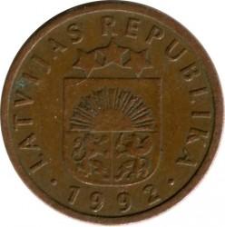 מטבע > 1סנטים, 1992-2008 - לטביה  - obverse