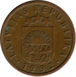Кованица > 1сантим, 1992-2008 - Летонија  - reverse