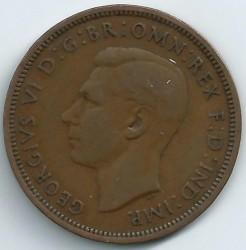 Кованица > ½пенија, 1937-1948 - Уједињено Краљевство  - obverse