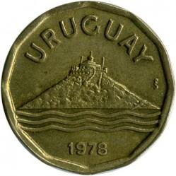 Монета > 20сентесимо, 1976-1981 - Уругвай  - obverse