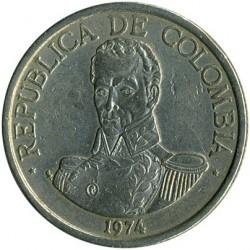 Moneda > 1peso, 1974-1981 - Colòmbia  - obverse