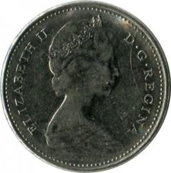 Монета > 10цента, 1968 - Канада  (Nickel /magnetic/) - obverse
