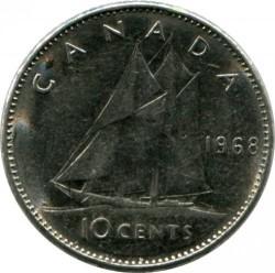 Монета > 10цента, 1968 - Канада  (Nickel /magnetic/) - reverse