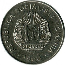 Coin > 25bani, 1966 - Romania  - reverse